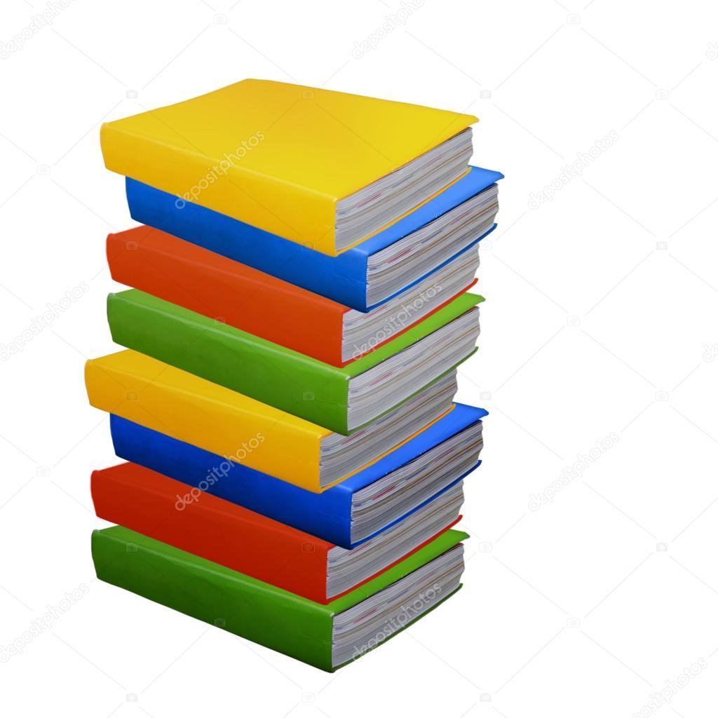pila de libros coloridos — Fotos de Stock © Salamatik #119194996