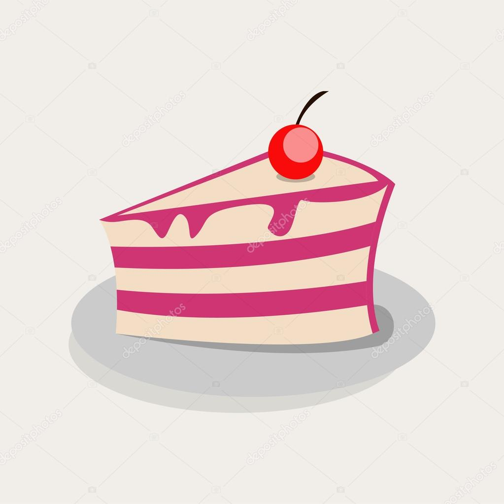 cake illustration cute vector on delicate background graphics