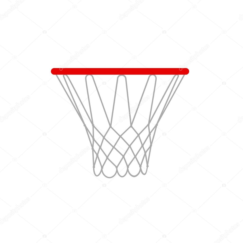 A Vector Illustration Of A Basketball Rims Basketball Hoop Vector