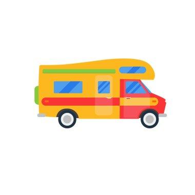 Traveler truck isolated illustration.