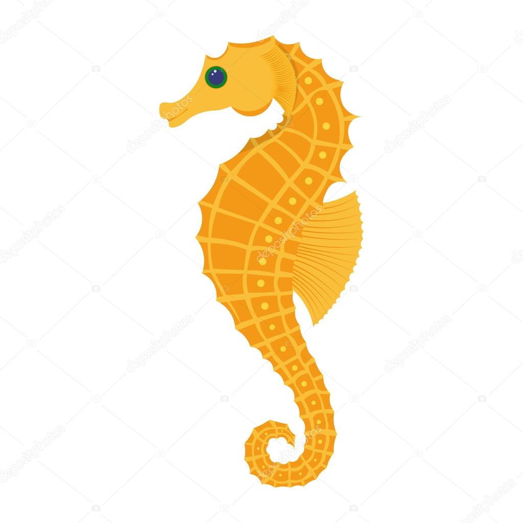 seahorse vector illustration stock vector npaveln 106349608 rh depositphotos com seahorse vectorial seahorse vector free download