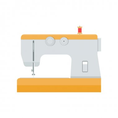 sewing machine vector illustration isolated on a white background