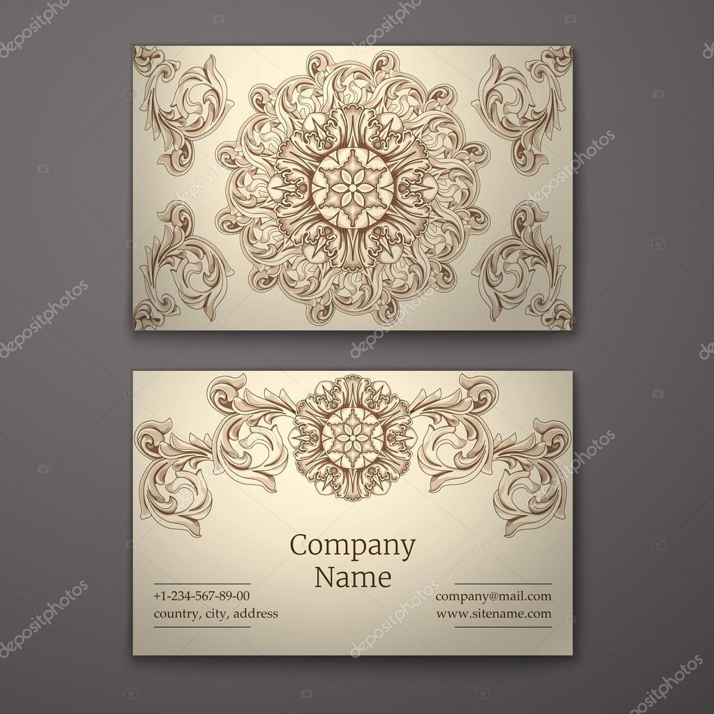 Carte De Visite Dans Un Style Baroque Image Vectorielle