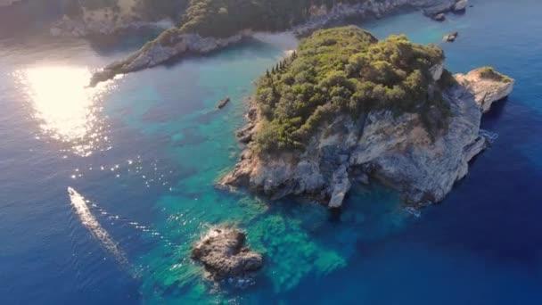 Beautiful coast of Corfu island.