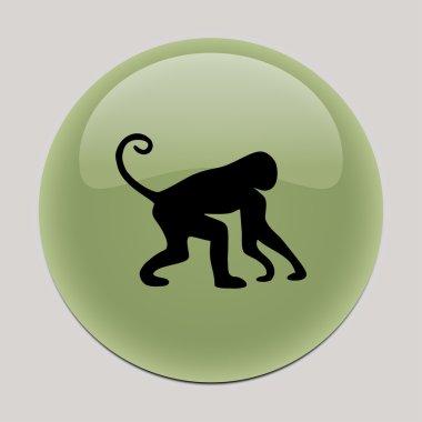 "Картина, постер, плакат, фотообои ""обезьянья икона. обезьяний вектор картины цветы"", артикул 104713932"