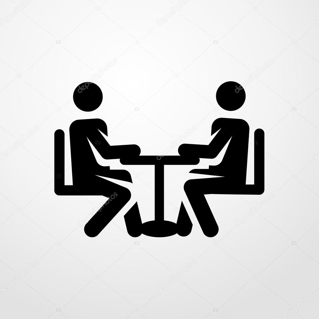 meeting icon meeting sign stock vector salamzadeh 110680296