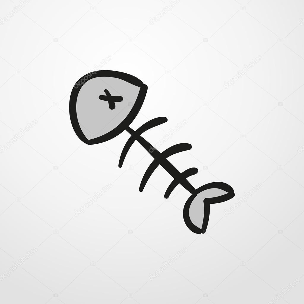 Fisch-Knochen-Symbol. Fisch-Knochen-Zeichen — Stockvektor ...
