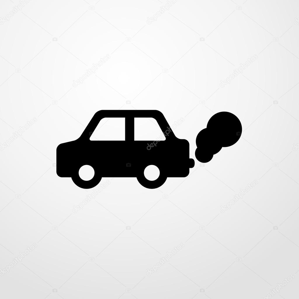 ic ne de la pollution automobile signe de la pollution de voiture image vectorielle. Black Bedroom Furniture Sets. Home Design Ideas