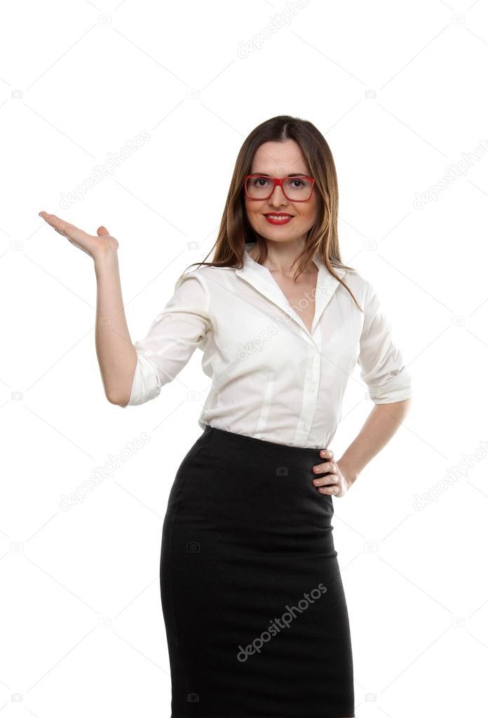 3f5e9b05af186 el retrato de mujer de negocios joven adulto con camisa blanca ...