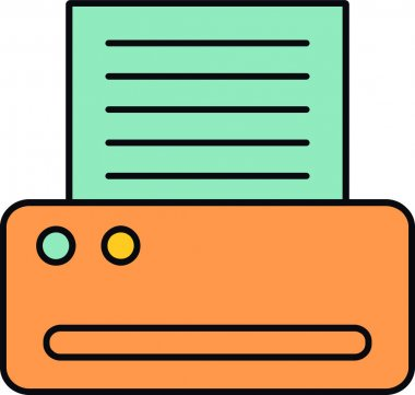 A pack of paper and notes icon