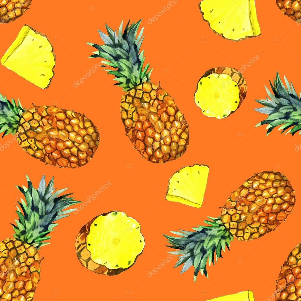 watercolor pineapple illustration