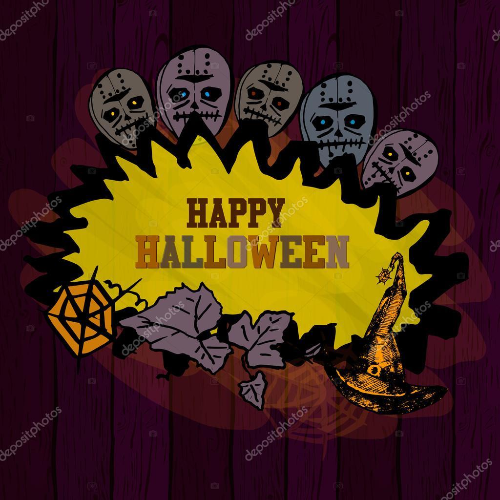 Halloween Grenze Fur Design Vektor Illustration Zusammenfassung