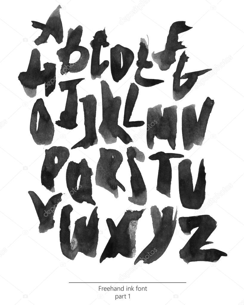 Fashion style Bold stylish alphabets for girls