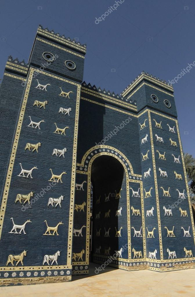 ishtar gate babylon stock photo juerpa 124214784