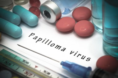 Papilloma virus - diagnosis written on a white piece of paper