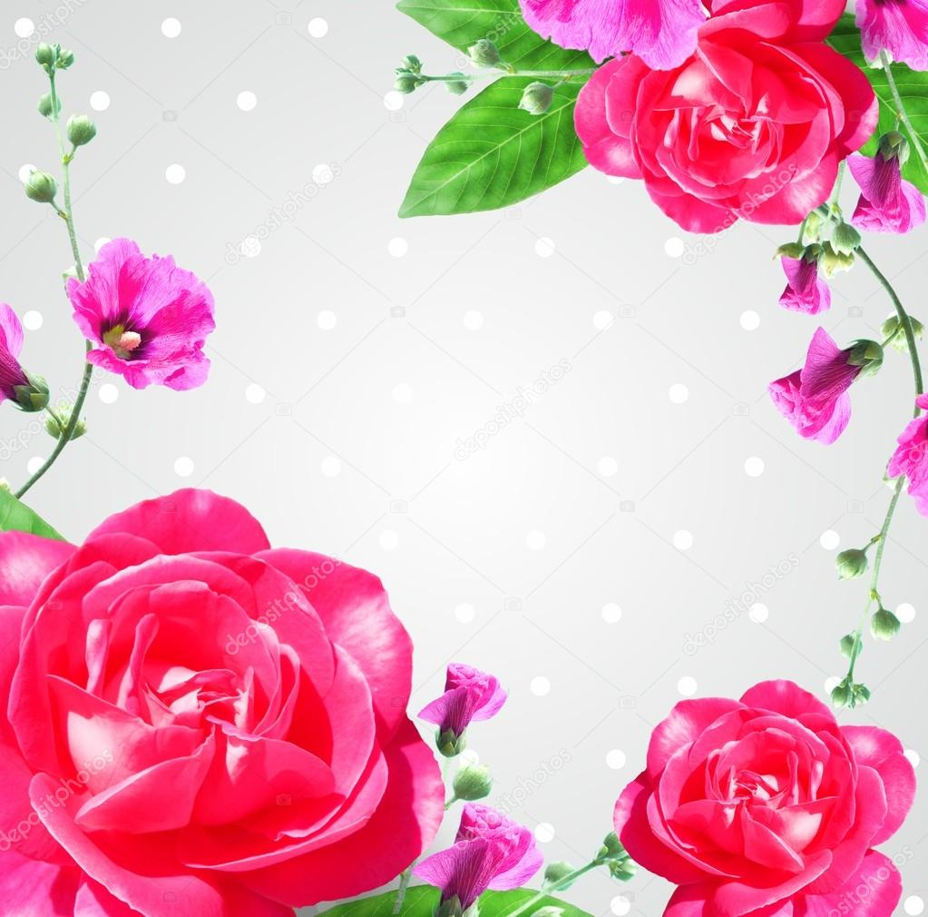 Very beautiful flowers composition rose frame stock photo very beautiful flowers composition rose frame stock photo izmirmasajfo