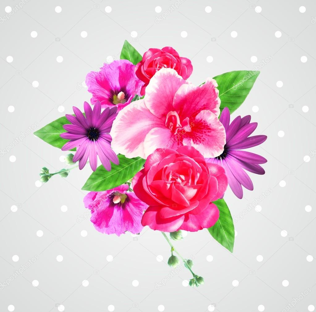 Very beautiful flowers composition card stock photo artistira very beautiful flowers composition card stock photo izmirmasajfo Choice Image