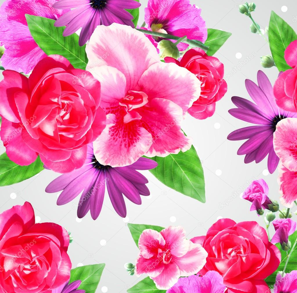 Very beautiful flowers composition card stock photo artistira very beautiful flowers composition card stock photo izmirmasajfo