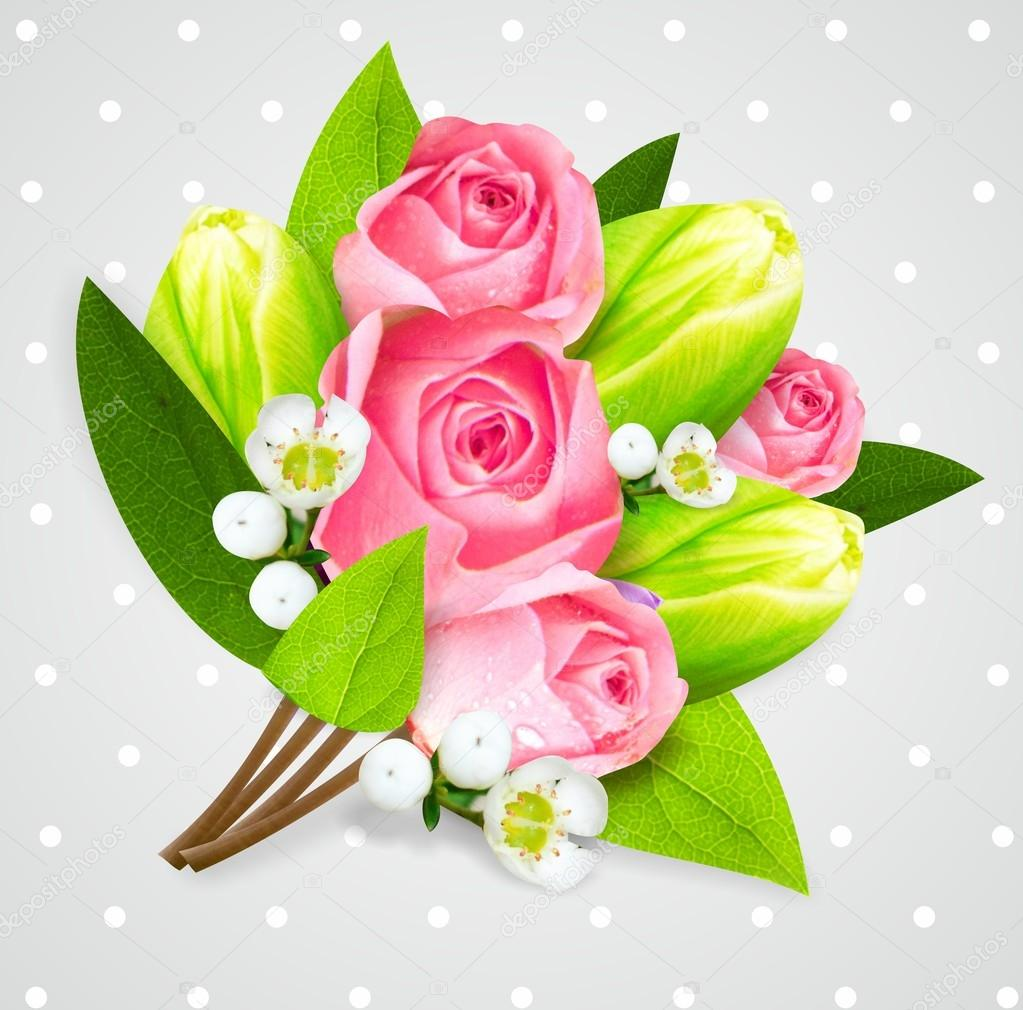 Beautiful flowers bouquet valentine day stock photo artistira beautiful flowers bouquet valentine day stock photo izmirmasajfo