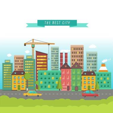 Urban landscape in flat design