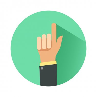Businessman hand with pointing finger