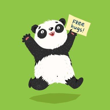 running panda with