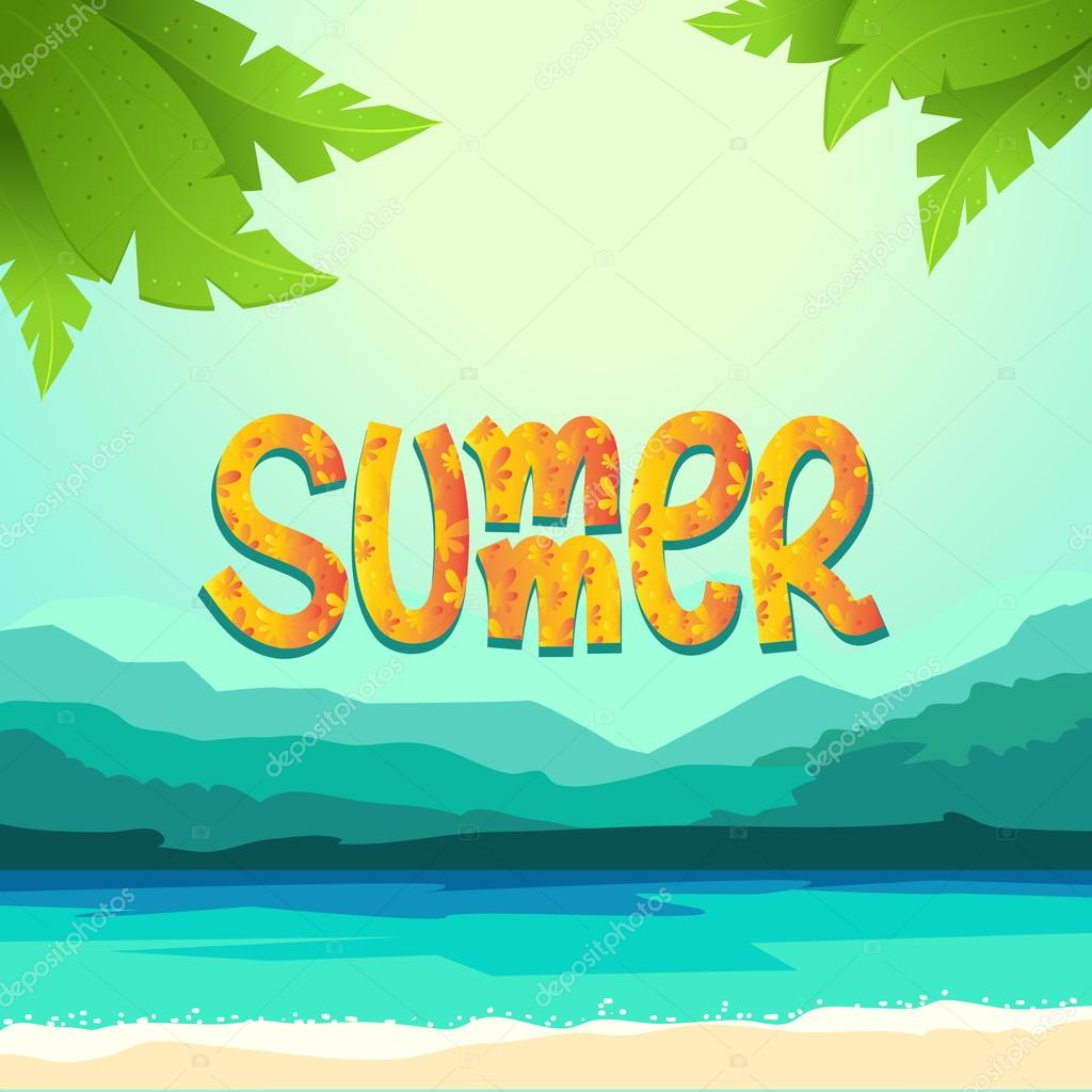 Summer background with sea