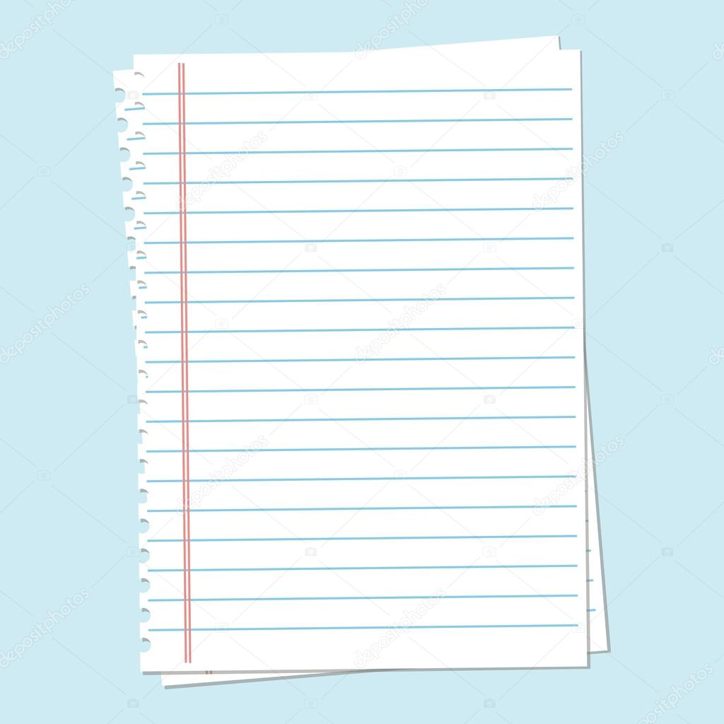 Notebook Blatt Papier — Stockvektor © brigada915.gmail.com #105859218