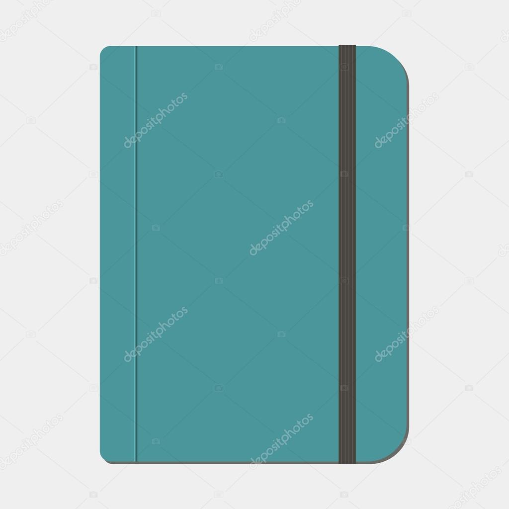 leeren Schreibheft Vorlage mit Gummiband — Stockvektor © brigada915 ...