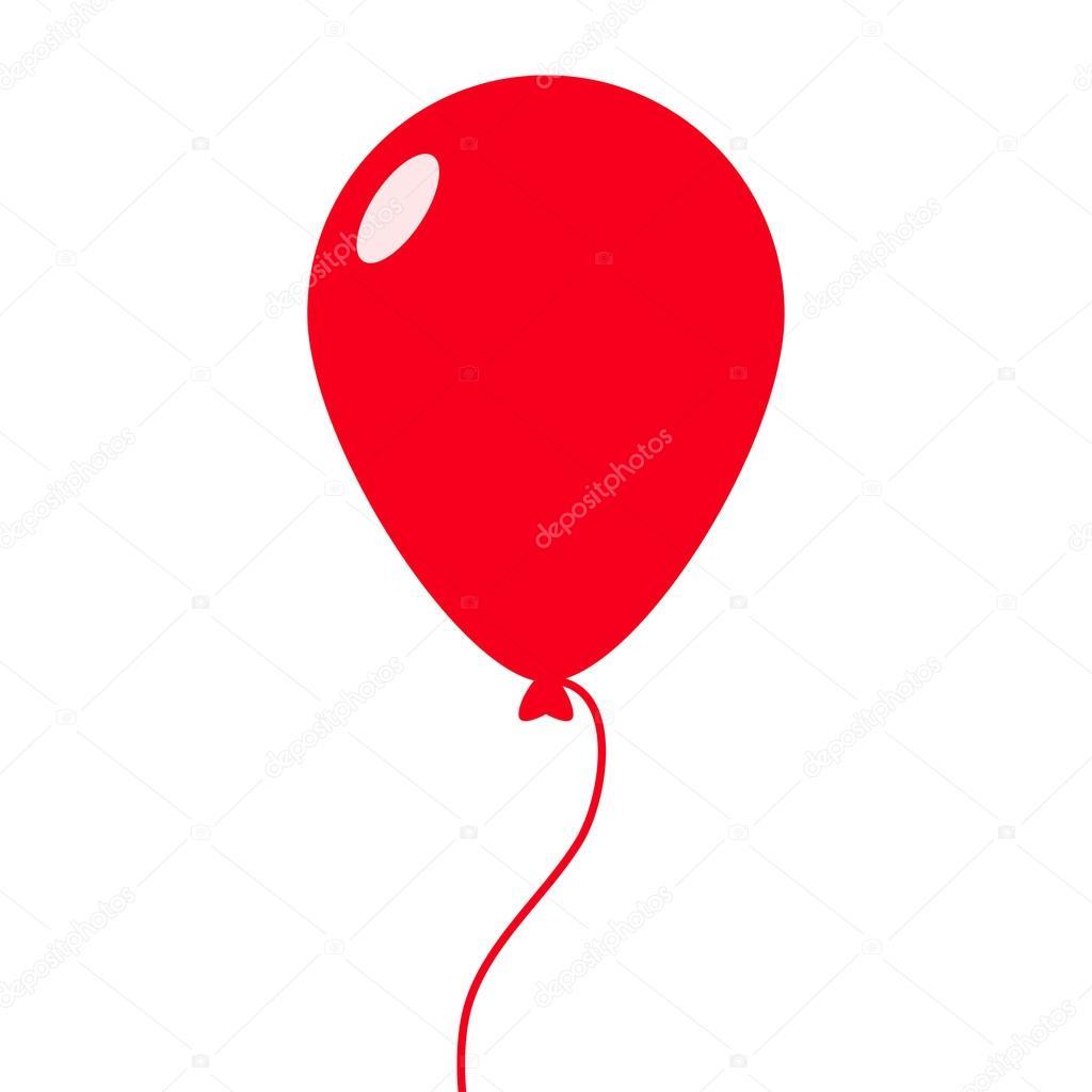 red balloon vector illustration stock vector brigada915 gmail rh depositphotos com balloon vector free balloon vector black