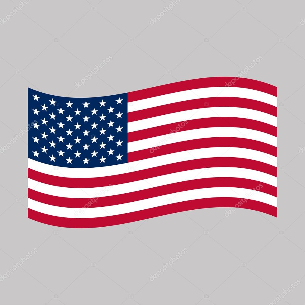 american flag vector illustration stock vector brigada915 gmail rh depositphotos com american flag vector logo american flag vector format