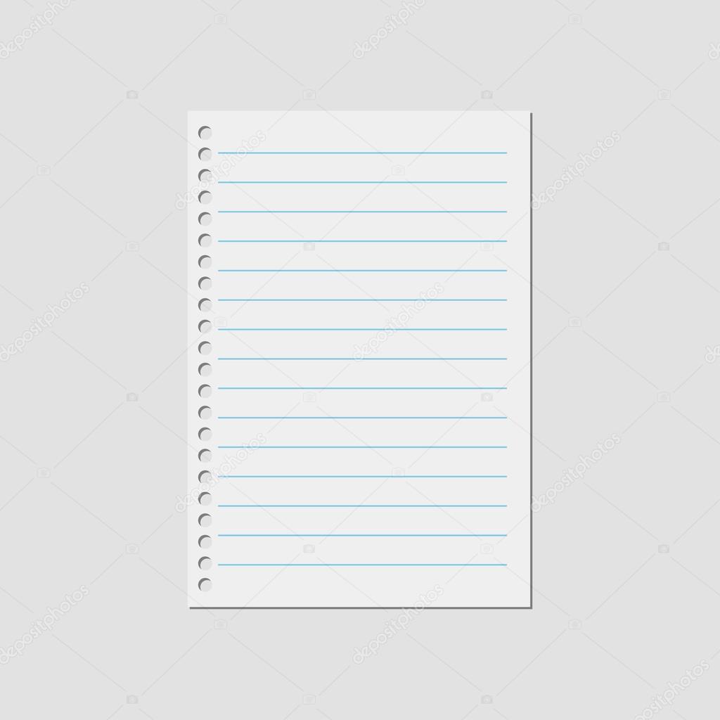 vector notebook paper — stock vector © brigada915.gmail #117483136