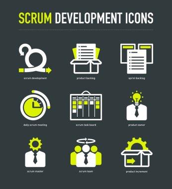 Scrum development methodology icons