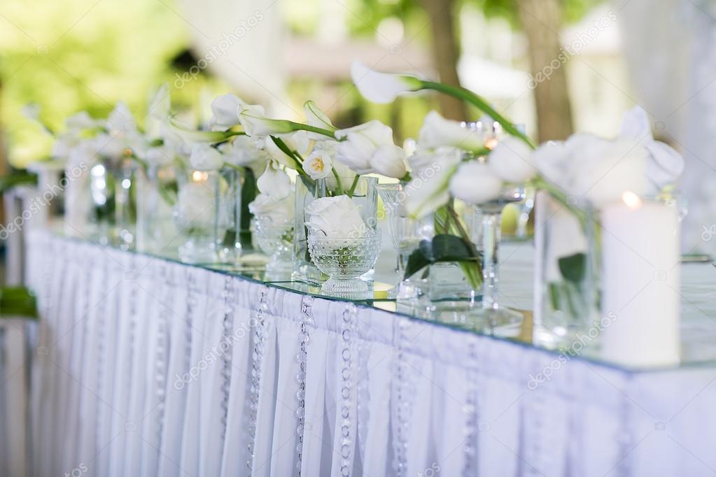Schones Restaurant Interieur Tischdekoration Fur Hochzeit Blume