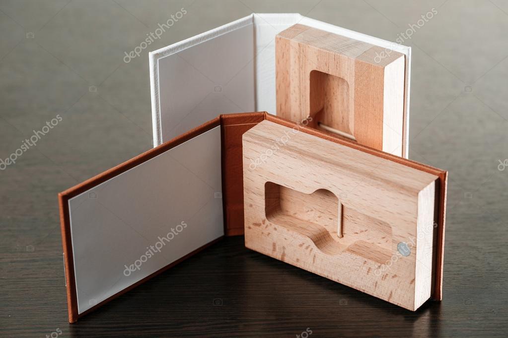 Empaques para unidades Usb. Caja con - fotógrafo de palo. Cajas de ...