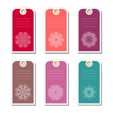 Set of colorful gift tags