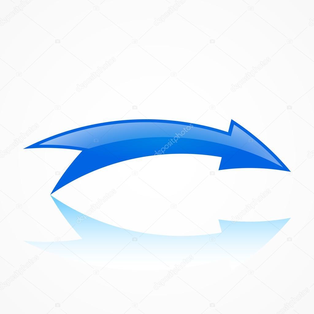 曲線の矢印イラスト ストックベクター Warlockf01094047yandexru