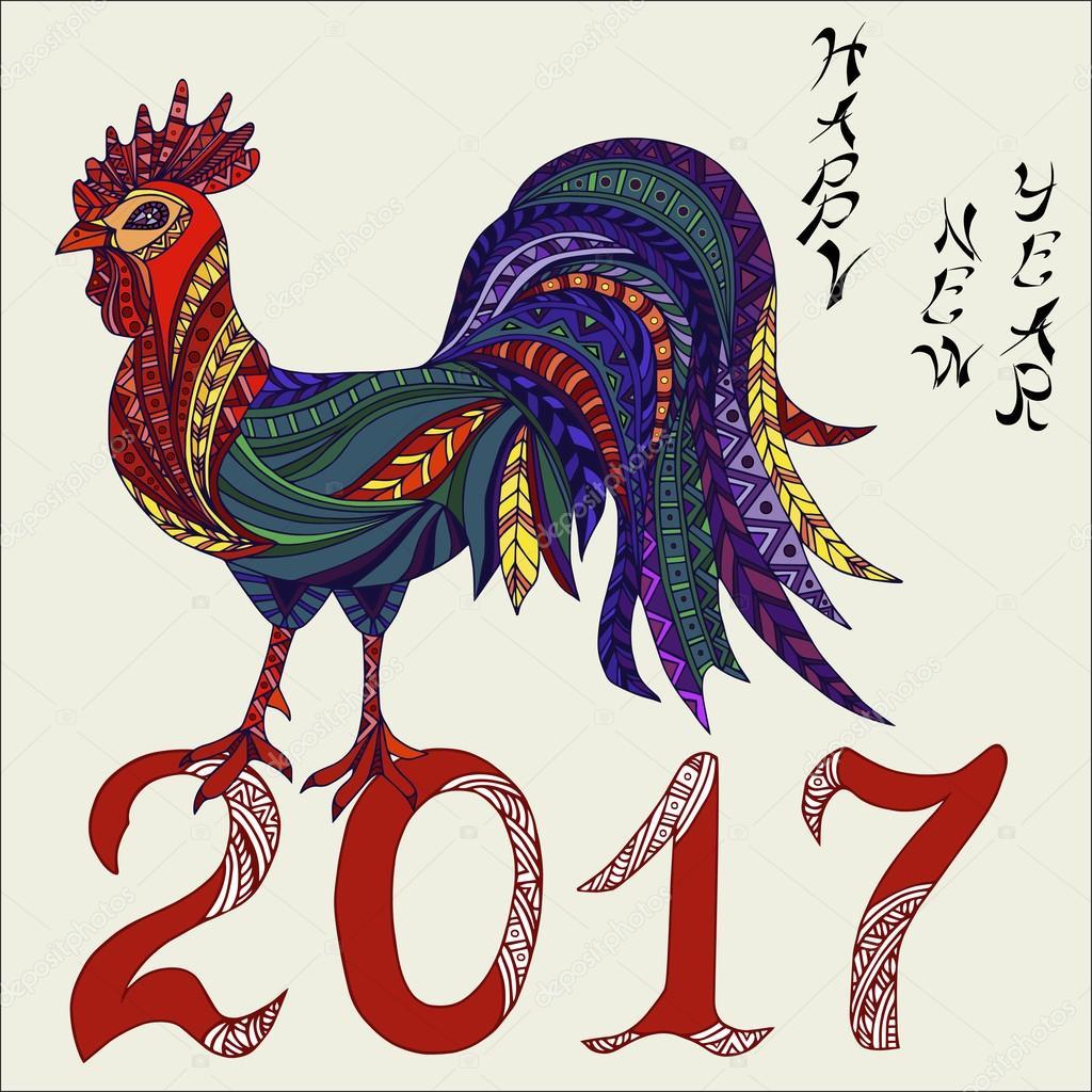 Открытки своими руками на новый год 2017 с петухом