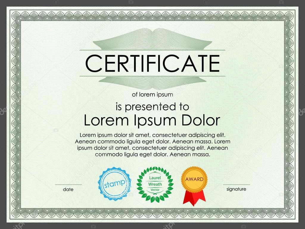 Diplom Zertifikatvorlage für banking-Dokumente — Stockvektor ...