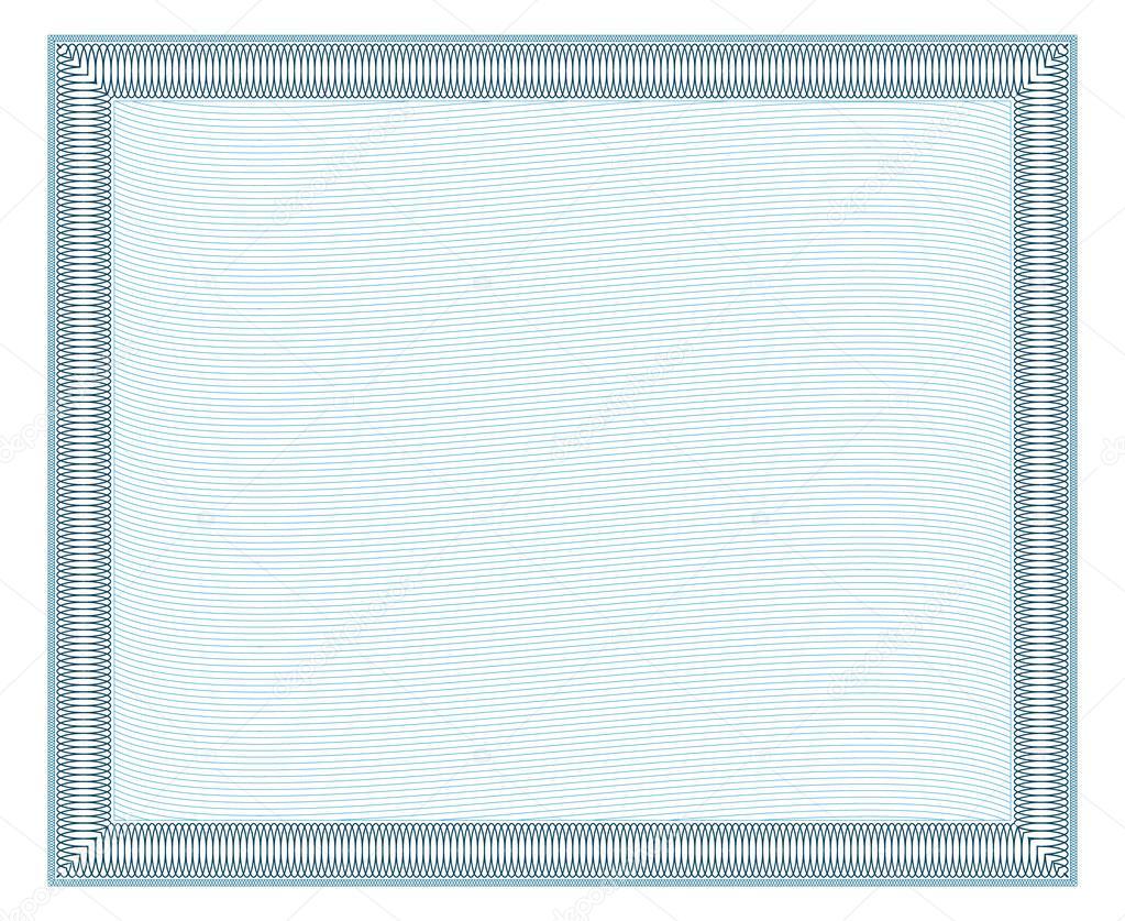 Diplom-Rahmen mit Verzierung — Stockvektor © Azamatovic #115255194