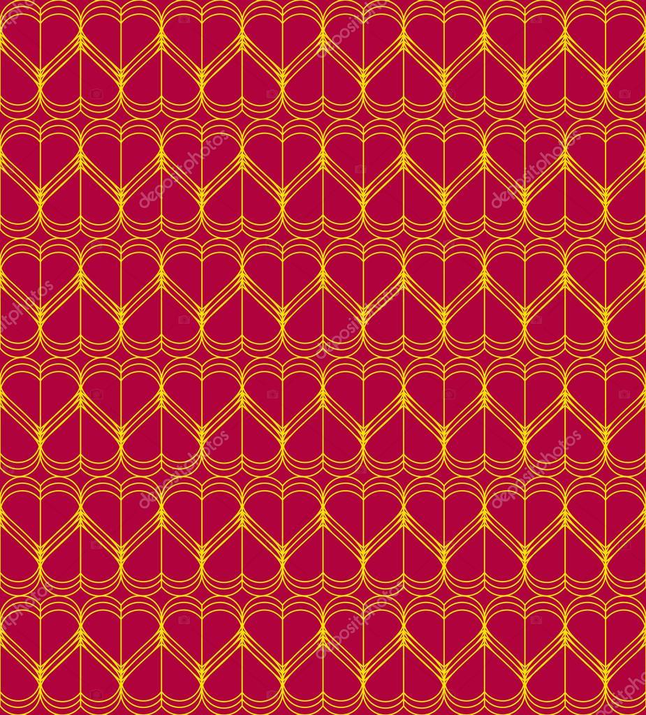 Rotes Herz nahtlose Muster Draht Vektor — Stockvektor © ruslank1000 ...