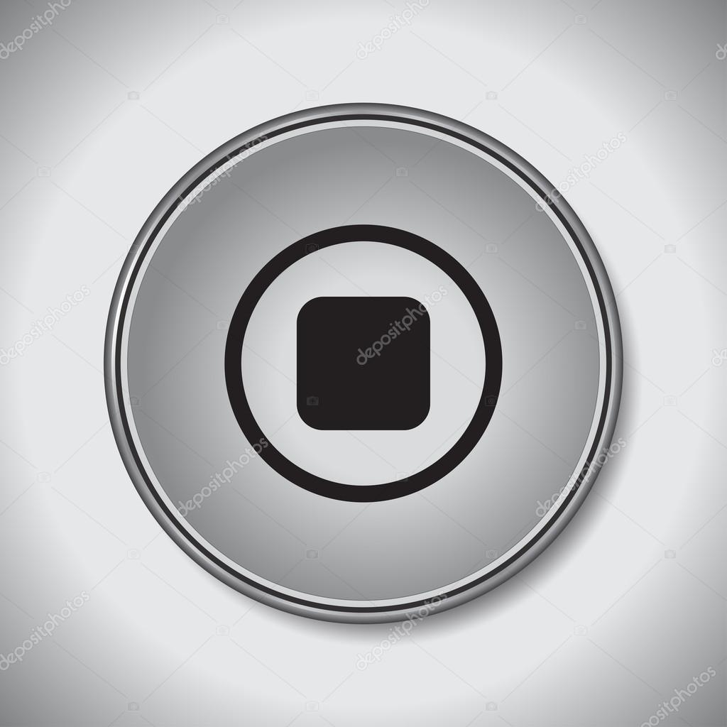Stop button icon vector illustration — Stock Vector