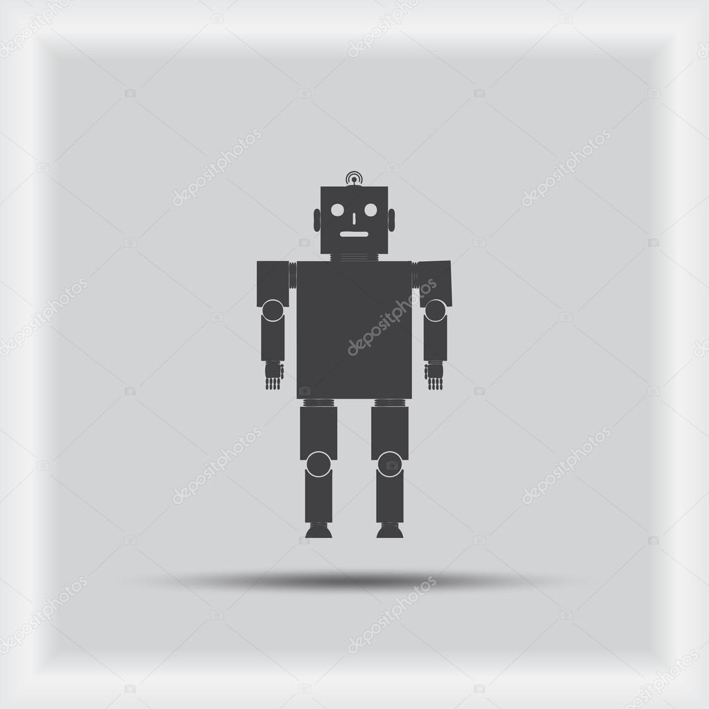 Vektorove Ikony Robota Robota Ikonu Jpeg Robota Ikonu Objektu