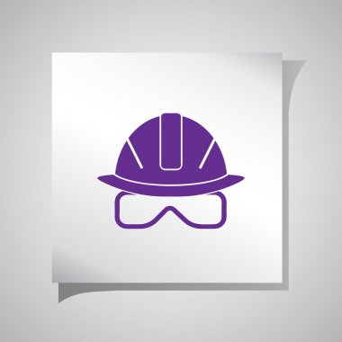 icons of helmet . Vector illustration