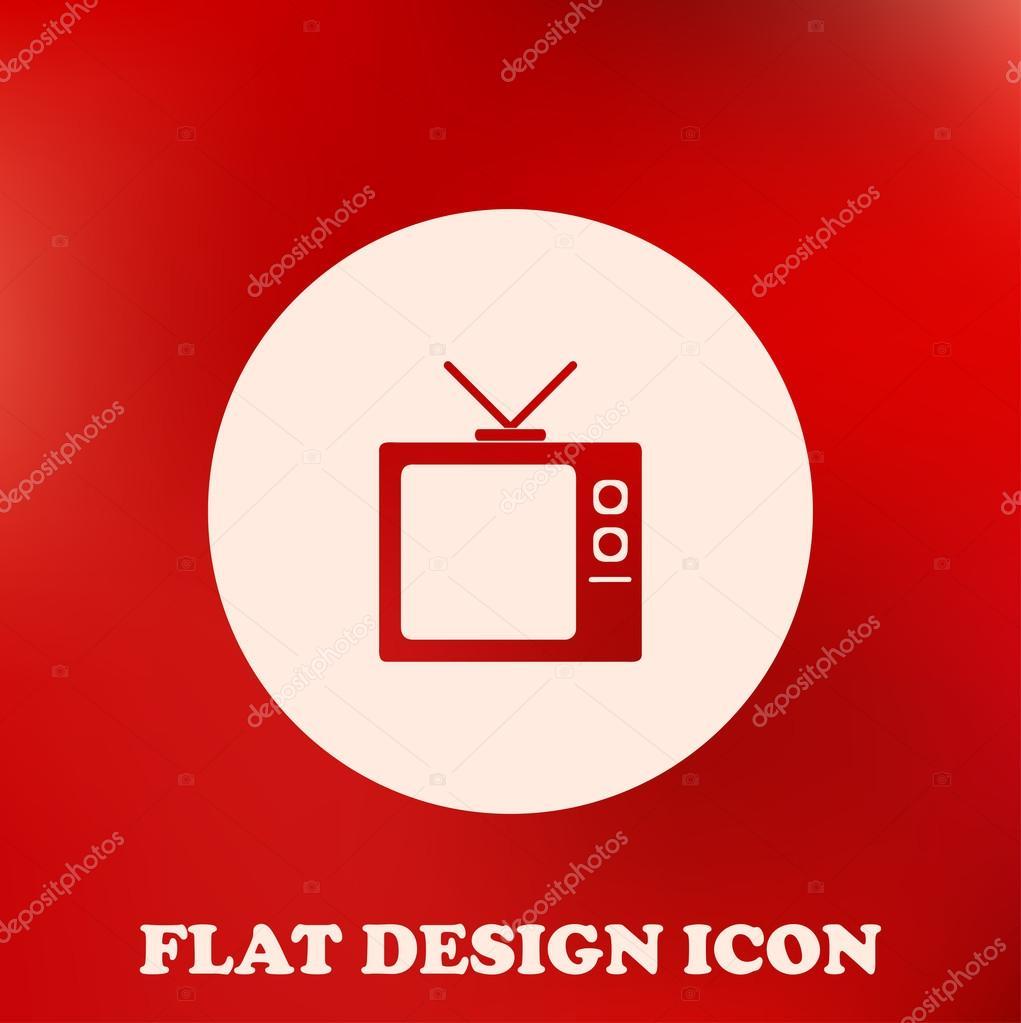 Platte Tv Kast.Platte Icoon Van Tv Kast Stockvector C Chack Rick 115024722