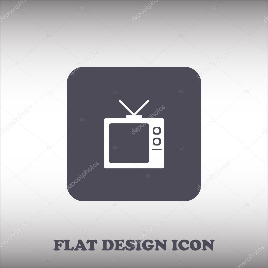 Platte Tv Kast.Platte Icoon Van Tv Kast Stockvector C Chack Rick 115287350