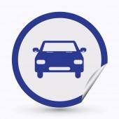 Ikona vozu. web design styl