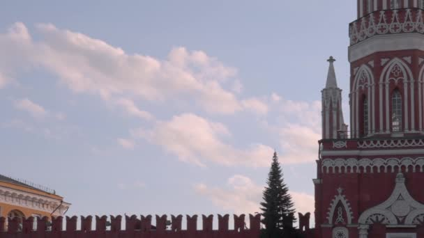 Red Square, Clouds over Nikolskaya Tower, Moscow, Russia