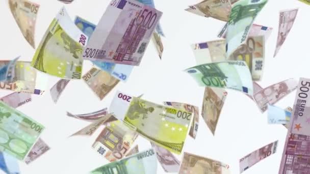 Déšť z eurobankovek. 4 video k smyčkou