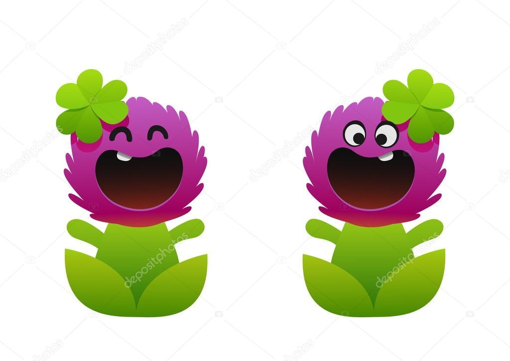 Vector: flor sonriente   flor de dibujos animados sonriendo dos ...